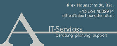 Logo: Alex Haunschmídt IT-Services